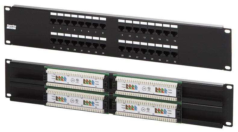 Патч-панель на 32 порта RJ-45, 5e  WT-2064-32P