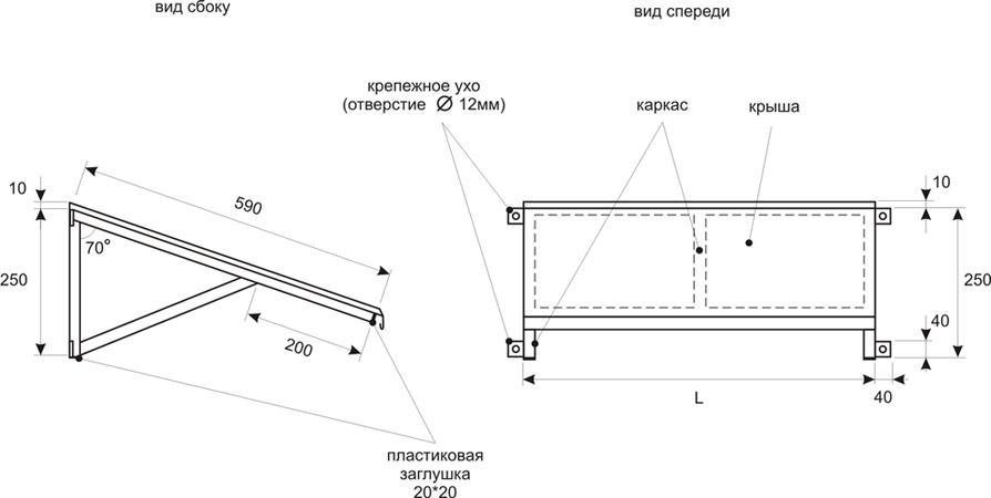 Козырек 980х590