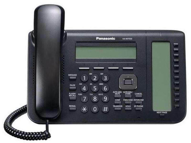 IP-системный телефон Панасоник KX-NT553RU-B