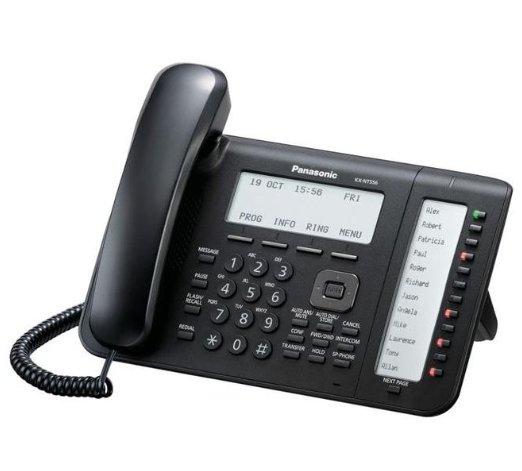 IP-системный телефон Панасоник KX-NT556RU-B