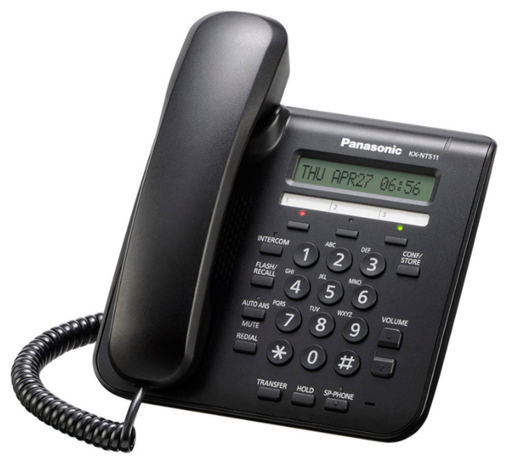 IP-системный телефон Панасоник KX-NT511PRU-B
