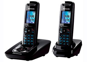 Радиотелефон DECT Панасоник KX-TG8422RUB (черный)