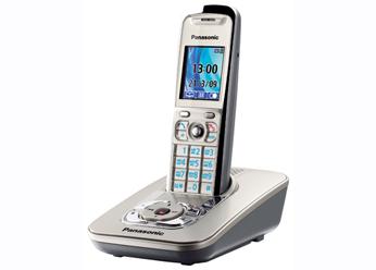 Радиотелефон DECT Панасоник  KX-TG8421RUN (платиновый)