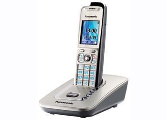 Радиотелефон DECT Панасоник KX-TG8411RUN (платиновый)