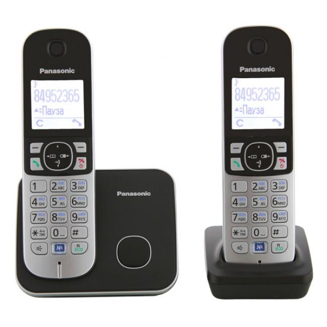 Радиотелефон DECT Панасоник KX-TG6812RUB (черный)