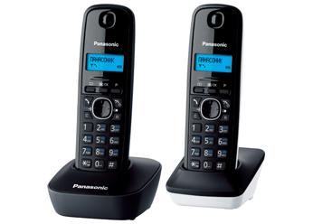 Купить Радиотелефон DECT Panasonic  KX-TG1612RU1 (серый/белый)