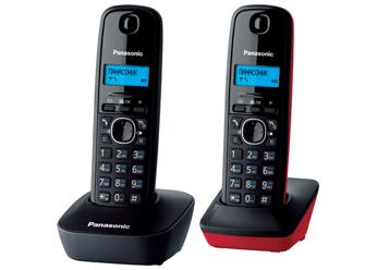Купить Радиотелефон DECT Panasonic KX-TG1612RU3 (серый/красный)