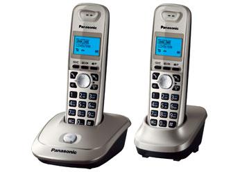 Радиотелефон DECT Панасоник KX-TG2512RUN (платиновый)