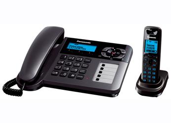 Радиотелефон DECT Панасоник  KX-TG6461RUT (темно-серый металлик)