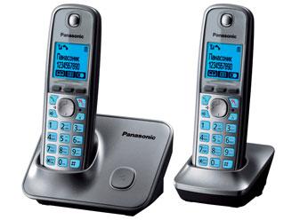Радиотелефон DECT Панасоник KX-TG6612RUM (серый металлик)