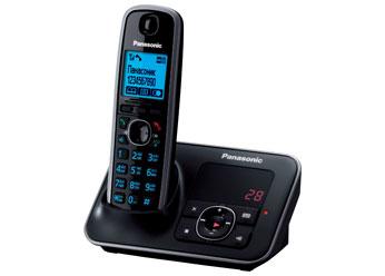 Радиотелефон DECT Панасоник KX-TG6621RUB (черный)