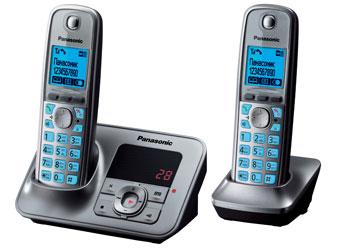 Радиотелефон DECT Панасоник  KX-TG6622RUM (серый металлик)