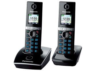 Радиотелефон DECT Панасоник  KX-TG8052RUB (черный)