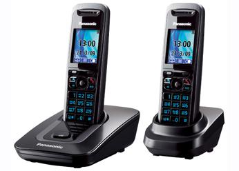 Радиотелефон DECT Панасоник KX-TG8412RUT (темно-серый металлик)