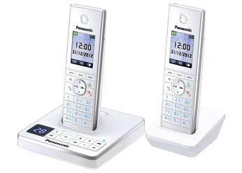Радиотелефон DECT Панасоник KX-TG8562RUW (белый)