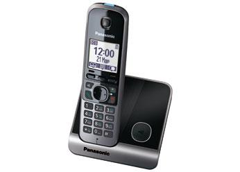 Радиотелефон DECT  Панасоник  KX-TG6711RUB (черный)
