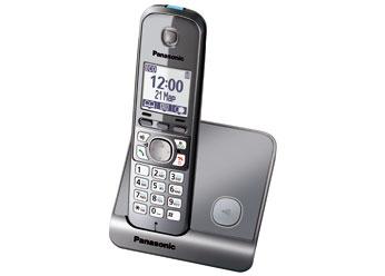 Радиотелефон DECT  Панасоник KX-TG6711RUM (серый металлик)