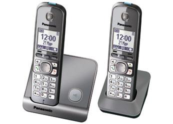 Радиотелефон DECT Панасоник KX-TG6712RUM (серый металлик)