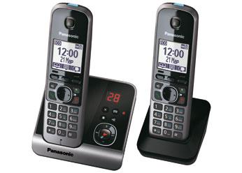 Радиотелефон DECT Панасоник KX-TG6722RUB (черный)