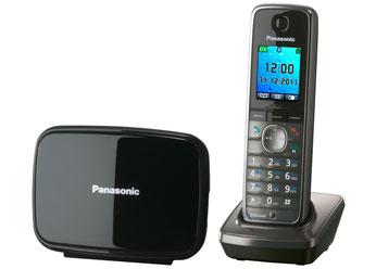 Радиотелефон DECT Панасоник KX-TG8611RUM (серый металлик)