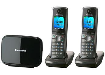 Радиотелефон DECT Панасоник KX-TG8612RUM (серый металлик)
