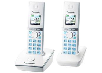 Радиотелефон DECT  Панасоник KX-TG8052RUW (белый)