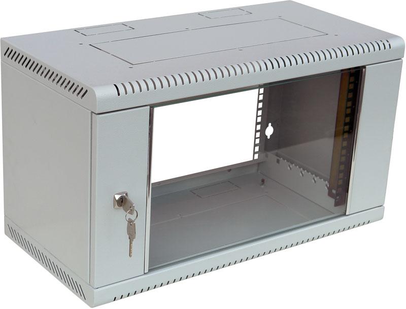 """Шкаф телекоммуникационный 19"""" настенный iCA Equipment WC-160-9U-400-GY (серый)"""