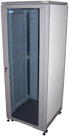 """Шкаф телекоммуникационный 19"""" напольный  WT-2041A-600х800 42U-GY (серый)"""