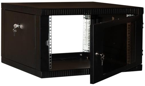 """Купить Шкаф телекоммуникационный 19"""" настенный  WT-2042A-6U-BLK (черный)"""