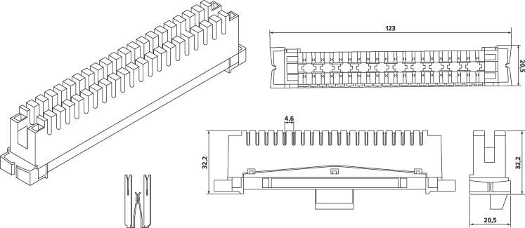 Плинт размыкаемый LSA-PLUS, 2/10 WT-1006A