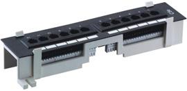 Патч-панель настенная на 12 портов RJ-45, 5e MAXYS MX-PP-12-5E-110