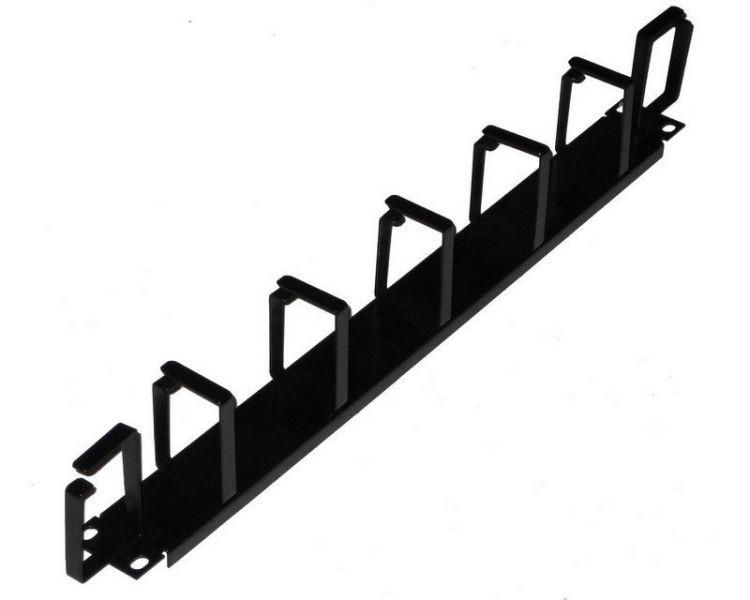 Купить Кабельный органайзер 7 колец металлический MAXYS MX-CM-1U-45-B
