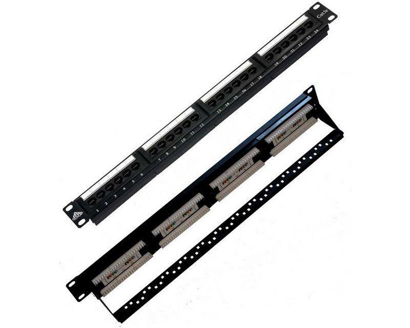 Купить Патч-панель на 24 порта RJ-45, 5e MAXYS MX-PP-24-1U-5E-KR1