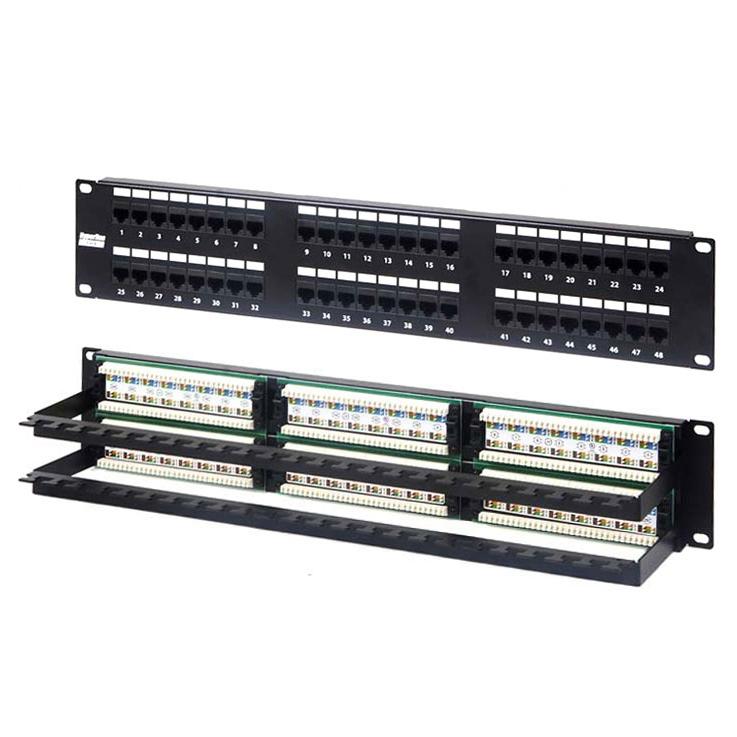Купить Патч-панель на 48 портов RJ-45, 5e MAXYS MX-PP-48-2U-5E-KR1
