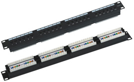 Патч-панель на 24 порта RJ-45, 5e  WT-2064-24P