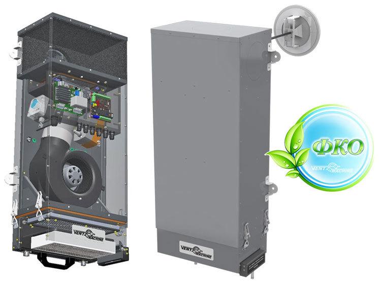 Купить Приточная установка VENTMACHINE V-STAT FKO 4A Zentec