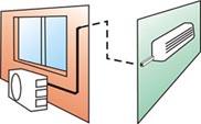Стандартный монтаж настенного кондиционера